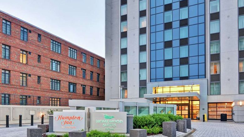 """Hampton Inn Silver Spring Exterior. Images powered by <a href=""""http://web.iceportal.com"""" target=""""_blank"""" rel=""""noopener"""">Ice Portal</a>."""