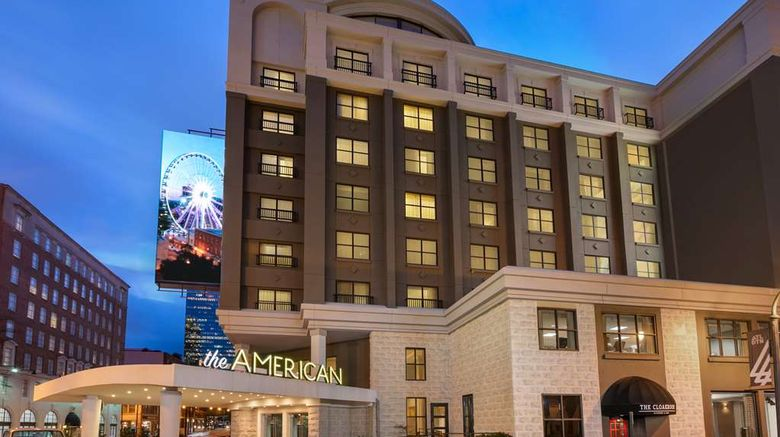 """American Hotel Atlanta Dtwn, Doubletree Exterior. Images powered by <a href=""""http://web.iceportal.com"""" target=""""_blank"""" rel=""""noopener"""">Ice Portal</a>."""