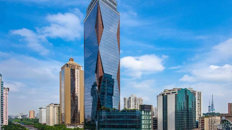 """Doubletree by Hilton Hotel Guangzhou Exterior. Images powered by <a href=""""http://web.iceportal.com"""" target=""""_blank"""" rel=""""noopener"""">Ice Portal</a>."""