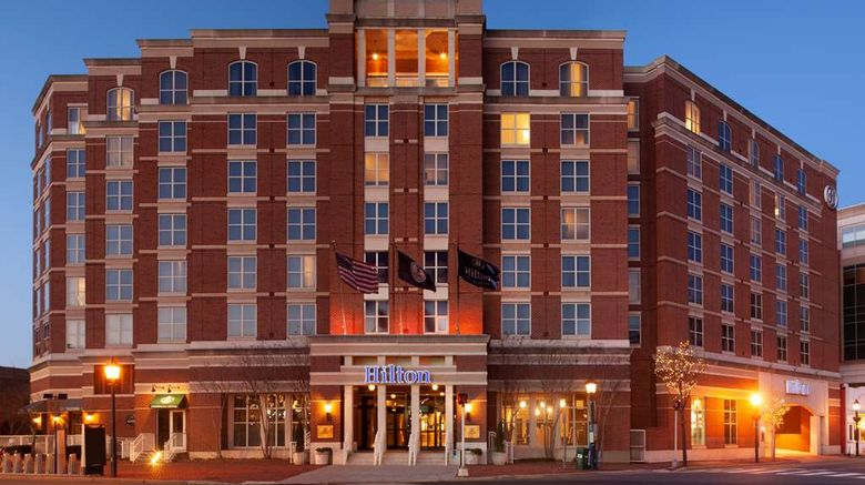 """Hilton Alexandria Old Town Exterior. Images powered by <a href=""""http://web.iceportal.com"""" target=""""_blank"""" rel=""""noopener"""">Ice Portal</a>."""