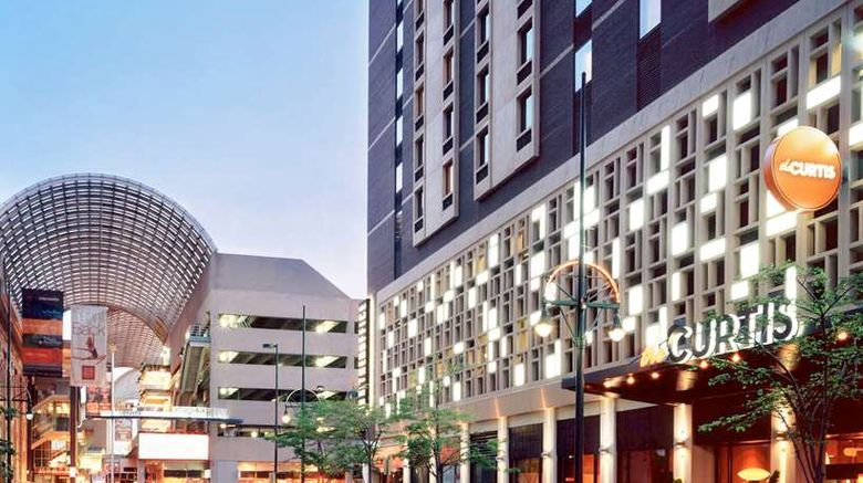 """The Curtis Denver - a Doubletree Hotel Exterior. Images powered by <a href=""""http://web.iceportal.com"""" target=""""_blank"""" rel=""""noopener"""">Ice Portal</a>."""