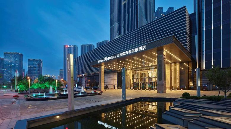 """Hilton Dalian Exterior. Images powered by <a href=""""http://web.iceportal.com"""" target=""""_blank"""" rel=""""noopener"""">Ice Portal</a>."""