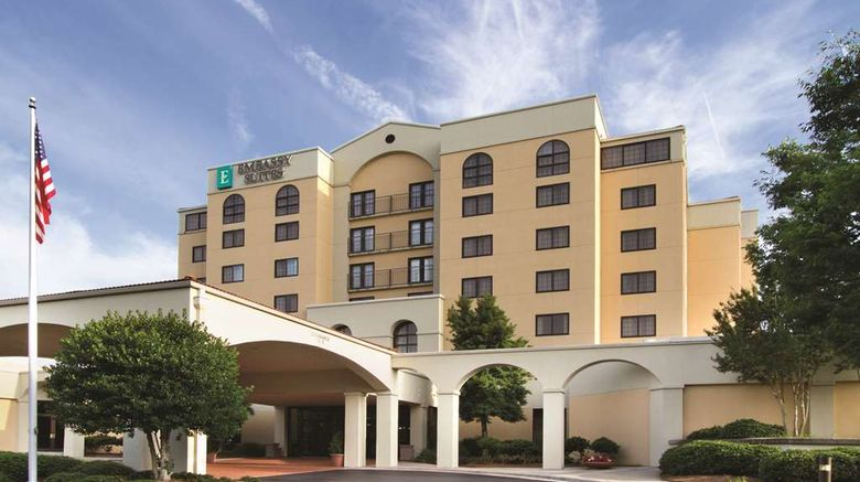 """Embassy Suites Greensboro Airport Hotel Exterior. Images powered by <a href=""""http://web.iceportal.com"""" target=""""_blank"""" rel=""""noopener"""">Ice Portal</a>."""