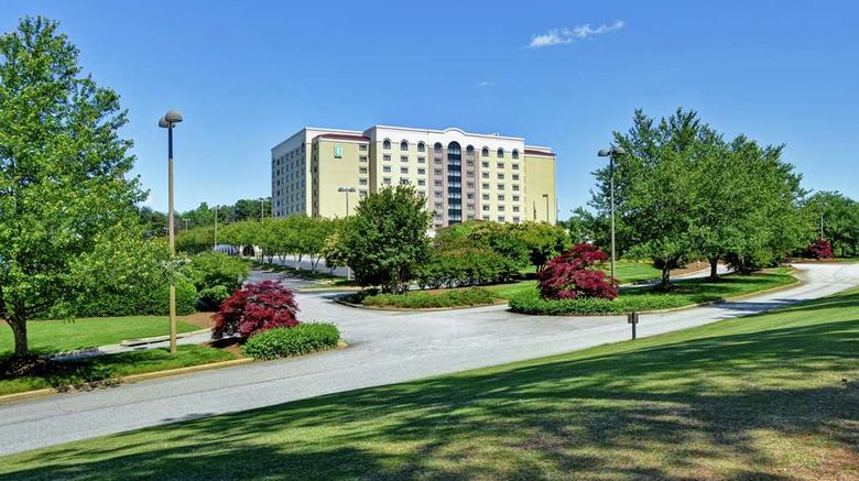 """Embassy Suites Greenville Golf Resort Exterior. Images powered by <a href=""""http://web.iceportal.com"""" target=""""_blank"""" rel=""""noopener"""">Ice Portal</a>."""