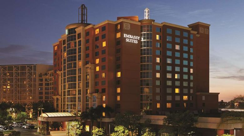 """Embassy Suites Anaheim South Exterior. Images powered by <a href=""""http://web.iceportal.com"""" target=""""_blank"""" rel=""""noopener"""">Ice Portal</a>."""