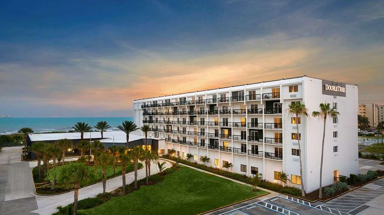 """Doubletree Oceanfront Hotel Cocoa Beach Exterior. Images powered by <a href=""""http://web.iceportal.com"""" target=""""_blank"""" rel=""""noopener"""">Ice Portal</a>."""