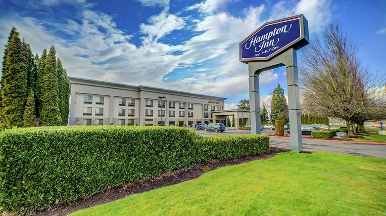 """Hampton Inn Portland East Exterior. Images powered by <a href=""""http://web.iceportal.com"""" target=""""_blank"""" rel=""""noopener"""">Ice Portal</a>."""
