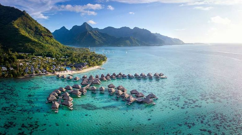"""Hilton Moorea Lagoon Resort  and  Spa Exterior. Images powered by <a href=""""http://web.iceportal.com"""" target=""""_blank"""" rel=""""noopener"""">Ice Portal</a>."""
