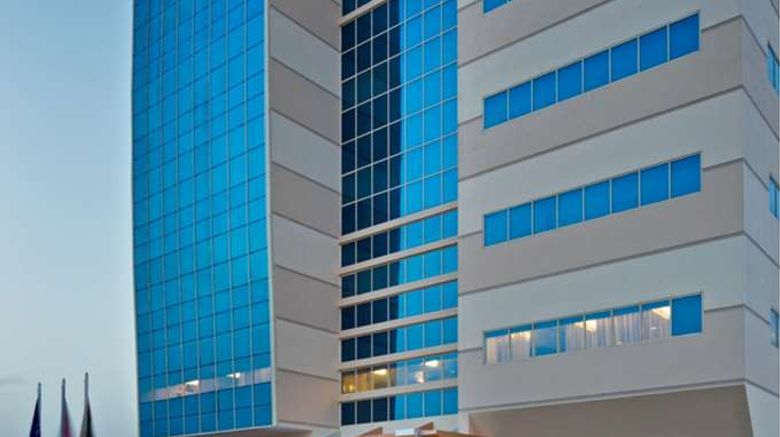 """DoubleTree by Hilton Ras Al Khaimah Exterior. Images powered by <a href=""""http://web.iceportal.com"""" target=""""_blank"""" rel=""""noopener"""">Ice Portal</a>."""