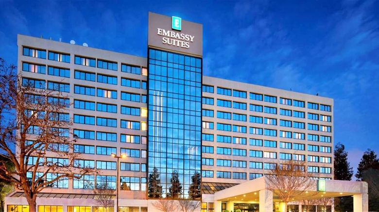 """Embassy Suites Hotel Santa Clara Exterior. Images powered by <a href=""""http://web.iceportal.com"""" target=""""_blank"""" rel=""""noopener"""">Ice Portal</a>."""