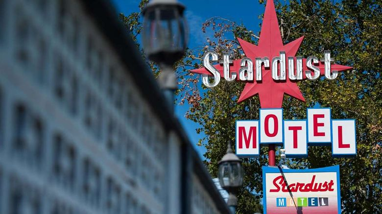 """Stardust Motel Exterior. Images powered by <a href=""""http://web.iceportal.com"""" target=""""_blank"""" rel=""""noopener"""">Ice Portal</a>."""