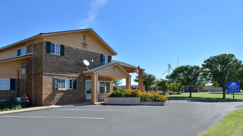 """Americas Best Value Inn  and  Suites Vega Exterior. Images powered by <a href=""""http://web.iceportal.com"""" target=""""_blank"""" rel=""""noopener"""">Ice Portal</a>."""