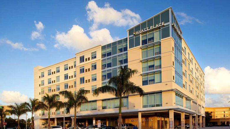 """Hyatt Place Miami Airport East Exterior. Images powered by <a href=""""http://web.iceportal.com"""" target=""""_blank"""" rel=""""noopener"""">Ice Portal</a>."""