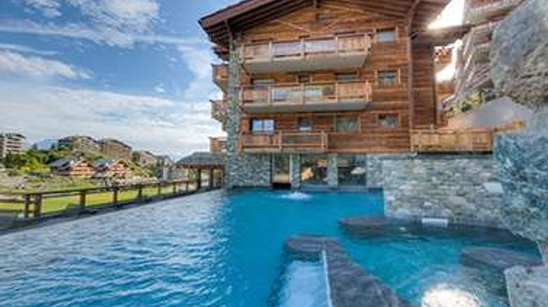 """Hotel Nendaz 4 Vallees Exterior. Images powered by <a href=""""http://web.iceportal.com"""" target=""""_blank"""" rel=""""noopener"""">Ice Portal</a>."""