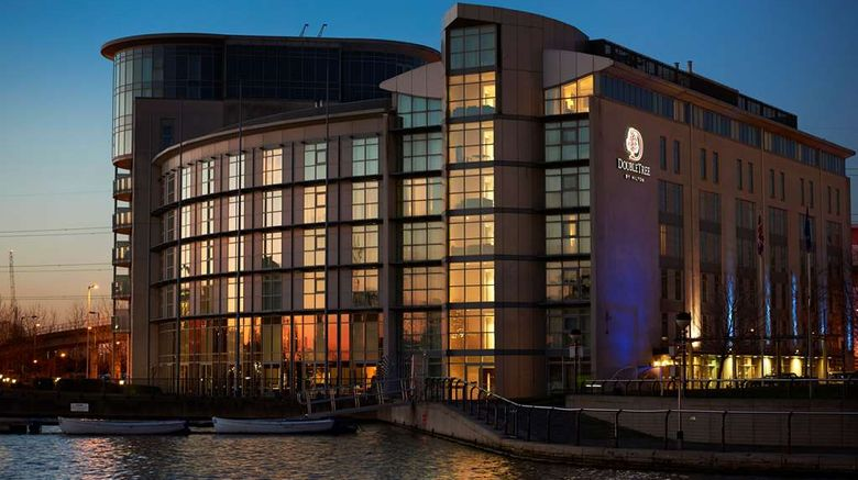 """DoubleTree by Hilton London ExCeL Exterior. Images powered by <a href=""""http://web.iceportal.com"""" target=""""_blank"""" rel=""""noopener"""">Ice Portal</a>."""