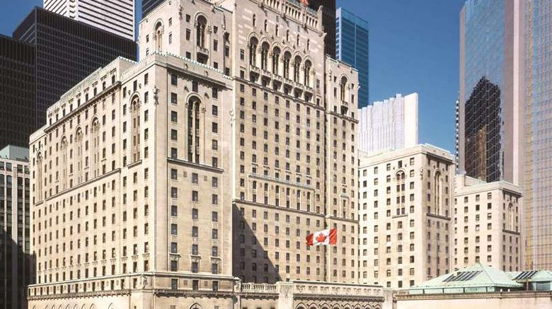 """Fairmont Royal York Exterior. Images powered by <a href=""""http://web.iceportal.com"""" target=""""_blank"""" rel=""""noopener"""">Ice Portal</a>."""