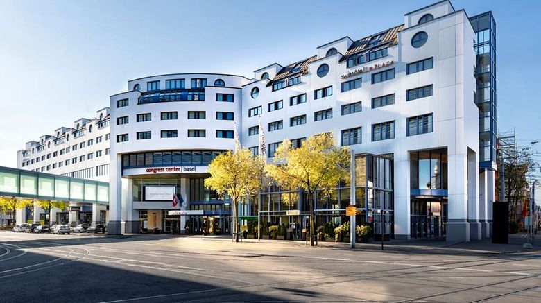 """Swissotel Le Plaza Basel Exterior. Images powered by <a href=""""http://web.iceportal.com"""" target=""""_blank"""" rel=""""noopener"""">Ice Portal</a>."""