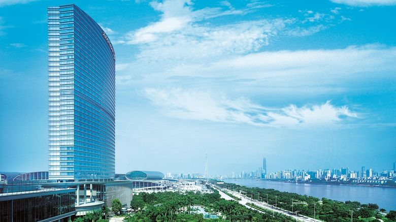 """Shangri-La Hotel, Guangzhou Exterior. Images powered by <a href=""""http://web.iceportal.com"""" target=""""_blank"""" rel=""""noopener"""">Ice Portal</a>."""