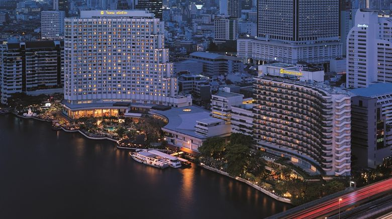 """Shangri-La Hotel Bangkok Exterior. Images powered by <a href=""""http://web.iceportal.com"""" target=""""_blank"""" rel=""""noopener"""">Ice Portal</a>."""