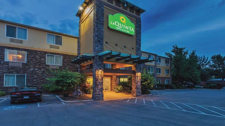 """La Quinta Inn  and  Suites Boise Airport Exterior. Images powered by <a href=""""http://web.iceportal.com"""" target=""""_blank"""" rel=""""noopener"""">Ice Portal</a>."""