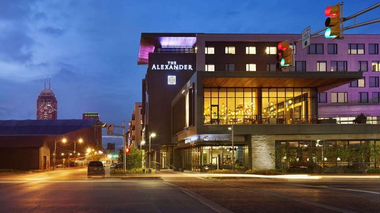 """The Alexander Hotel Exterior. Images powered by <a href=""""http://web.iceportal.com"""" target=""""_blank"""" rel=""""noopener"""">Ice Portal</a>."""