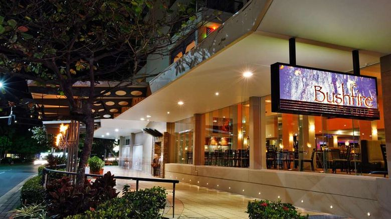 """Pacific Hotel Cairns Exterior. Images powered by <a href=""""http://web.iceportal.com"""" target=""""_blank"""" rel=""""noopener"""">Ice Portal</a>."""