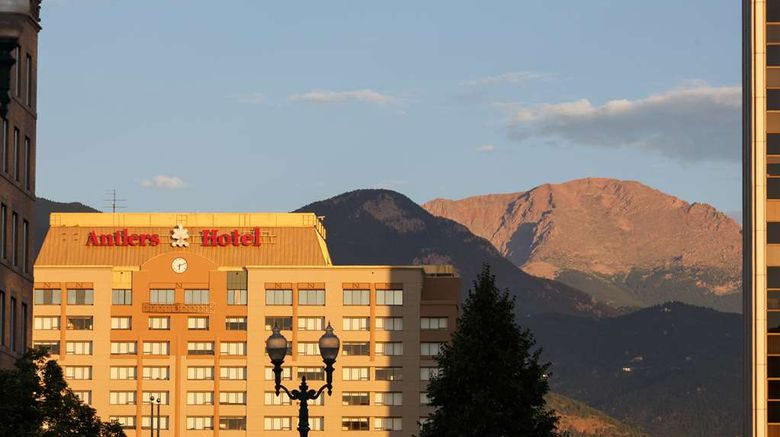 """The Antlers, A Wyndham Hotel Exterior. Images powered by <a href=""""http://web.iceportal.com"""" target=""""_blank"""" rel=""""noopener"""">Ice Portal</a>."""