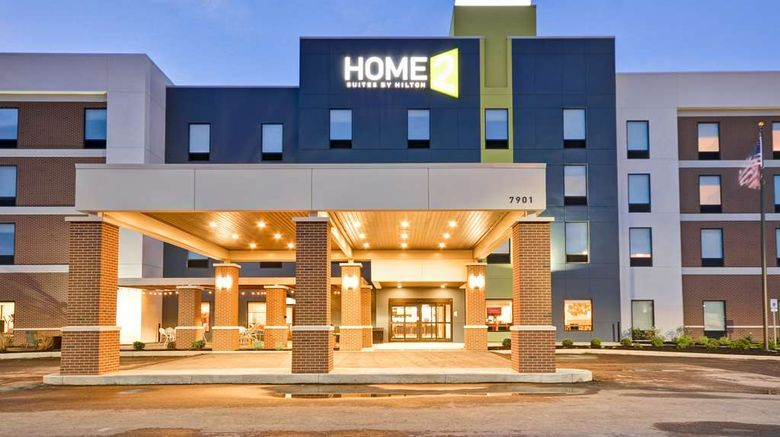 """Home2 Suites by Hilton Evansville Exterior. Images powered by <a href=""""http://web.iceportal.com"""" target=""""_blank"""" rel=""""noopener"""">Ice Portal</a>."""