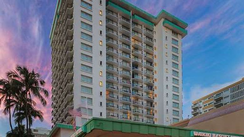 """Waikiki Resort Hotel Exterior. Images powered by <a href=""""http://web.iceportal.com"""" target=""""_blank"""" rel=""""noopener"""">Ice Portal</a>."""