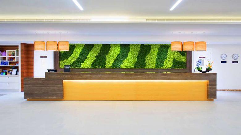 "Hilton Garden Inn Ras Al Khaimah Lobby. Images powered by <a href=""http://web.iceportal.com"" target=""_blank"" rel=""noopener"">Ice Portal</a>."