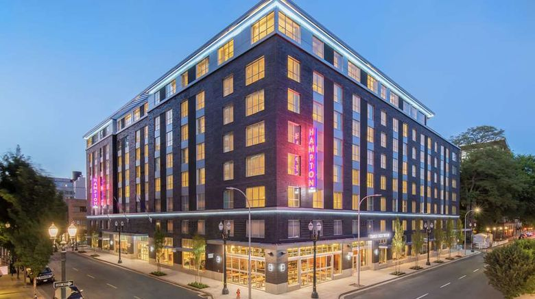 """Hampton Inn  and  Suites Pearl District Exterior. Images powered by <a href=""""http://web.iceportal.com"""" target=""""_blank"""" rel=""""noopener"""">Ice Portal</a>."""