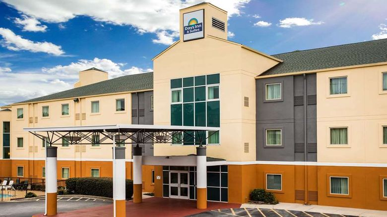 """Days Inn  and  Suites Augusta West Exterior. Images powered by <a href=""""http://web.iceportal.com"""" target=""""_blank"""" rel=""""noopener"""">Ice Portal</a>."""