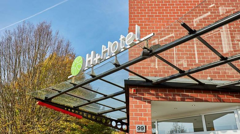 "H-Plus Hotel Koeln Huerth Exterior. Images powered by <a href=""http://web.iceportal.com"" target=""_blank"" rel=""noopener"">Ice Portal</a>."