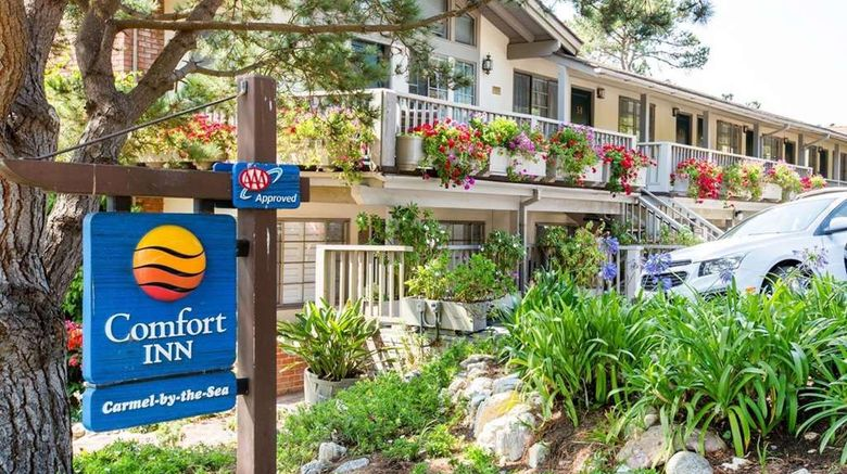 """Comfort Inn Carmel by the Sea Exterior. Images powered by <a href=""""http://web.iceportal.com"""" target=""""_blank"""" rel=""""noopener"""">Ice Portal</a>."""