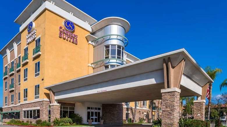"""Comfort Suites Ontario Convention Center Exterior. Images powered by <a href=""""http://web.iceportal.com"""" target=""""_blank"""" rel=""""noopener"""">Ice Portal</a>."""