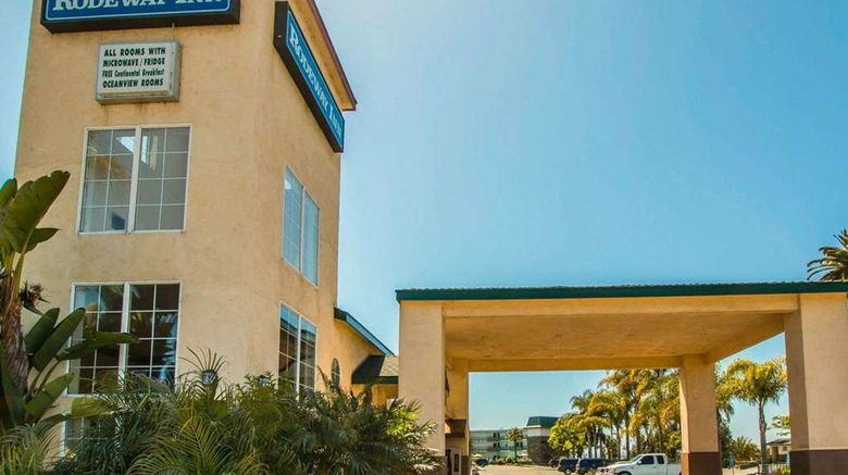 """Rodeway Inn Oceanside Exterior. Images powered by <a href=""""http://web.iceportal.com"""" target=""""_blank"""" rel=""""noopener"""">Ice Portal</a>."""