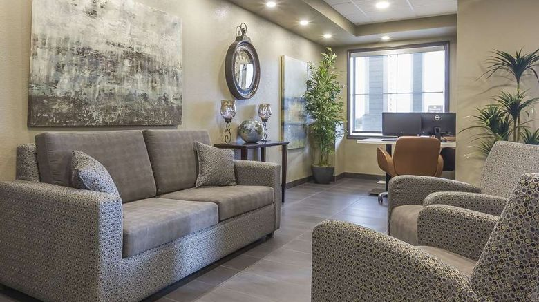 """Quality Inn  and  Suites Moose Jaw Lobby. Images powered by <a href=""""http://web.iceportal.com"""" target=""""_blank"""" rel=""""noopener"""">Ice Portal</a>."""
