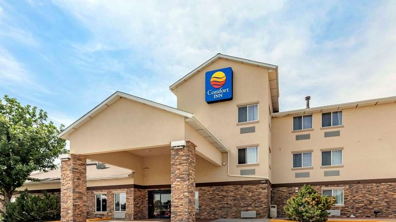 """Comfort Inn Greeley Exterior. Images powered by <a href=""""http://web.iceportal.com"""" target=""""_blank"""" rel=""""noopener"""">Ice Portal</a>."""