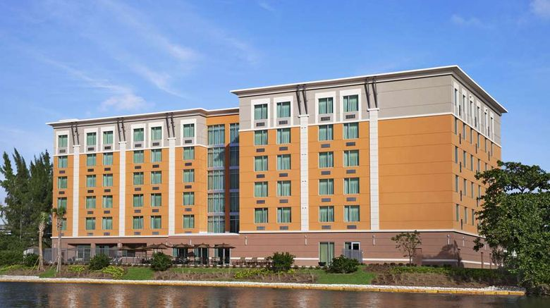 """Cambria Hotel Miami Airport–Blue Lagoon Exterior. Images powered by <a href=""""http://web.iceportal.com"""" target=""""_blank"""" rel=""""noopener"""">Ice Portal</a>."""