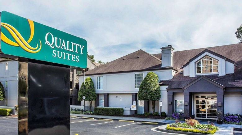 """Quality Suites Atlanta Buckhead Village Exterior. Images powered by <a href=""""http://web.iceportal.com"""" target=""""_blank"""" rel=""""noopener"""">Ice Portal</a>."""