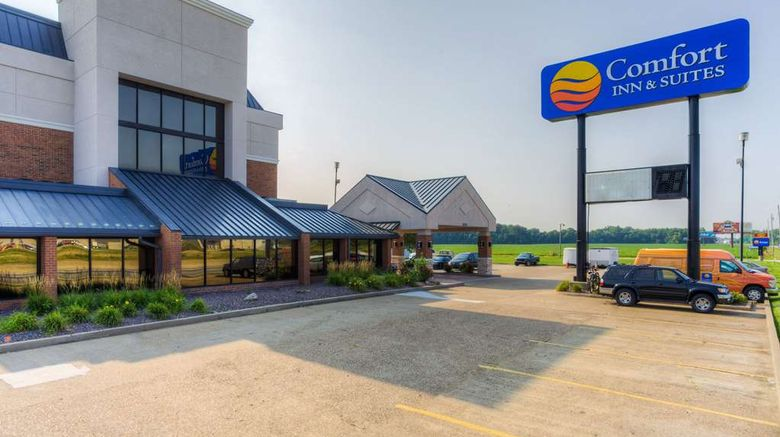 """Comfort Inn  and  Suites Evansville North Exterior. Images powered by <a href=""""http://web.iceportal.com"""" target=""""_blank"""" rel=""""noopener"""">Ice Portal</a>."""