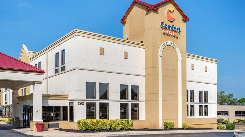 """Comfort Suites Hagerstown Exterior. Images powered by <a href=""""http://web.iceportal.com"""" target=""""_blank"""" rel=""""noopener"""">Ice Portal</a>."""