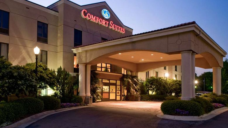 """Comfort Suites Starkville Exterior. Images powered by <a href=""""http://web.iceportal.com"""" target=""""_blank"""" rel=""""noopener"""">Ice Portal</a>."""