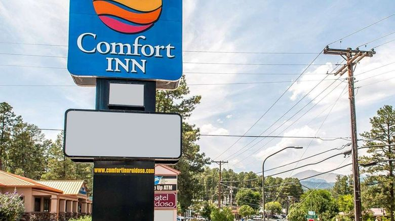 """Comfort Inn - Midtown Ruidoso Exterior. Images powered by <a href=""""http://web.iceportal.com"""" target=""""_blank"""" rel=""""noopener"""">Ice Portal</a>."""