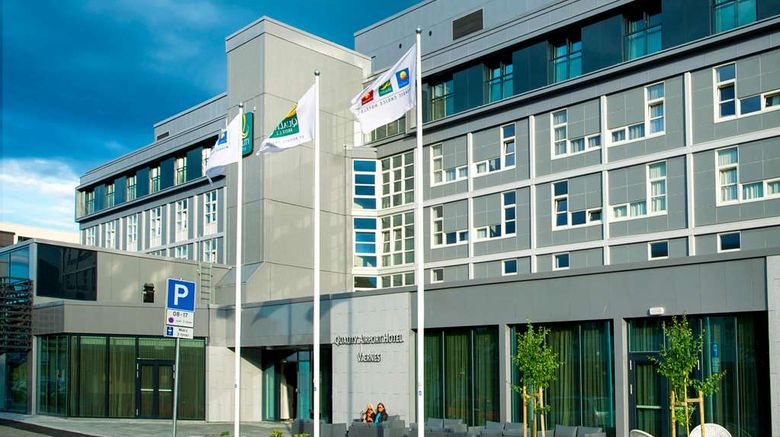 """Quality Airport Hotel Exterior. Images powered by <a href=""""http://web.iceportal.com"""" target=""""_blank"""" rel=""""noopener"""">Ice Portal</a>."""