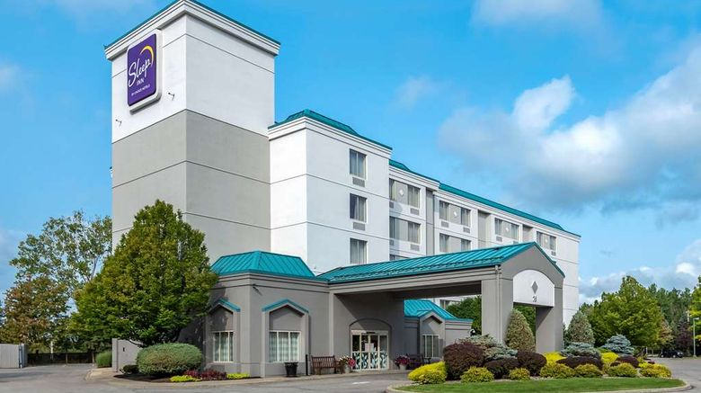 """Sleep Inn Amherst Exterior. Images powered by <a href=""""http://web.iceportal.com"""" target=""""_blank"""" rel=""""noopener"""">Ice Portal</a>."""