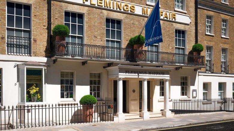 "Flemings Mayfair Hotel Exterior. Images powered by <a href=""http://www.leonardo.com"" target=""_blank"" rel=""noopener"">Leonardo</a>."