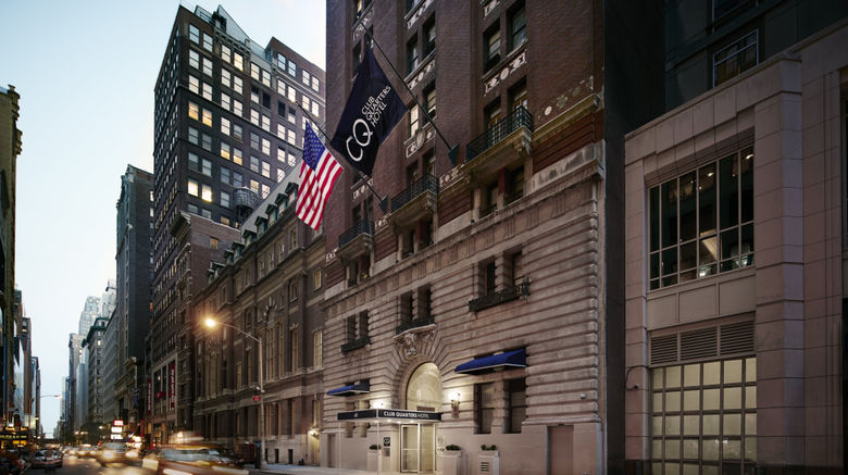"Club Quarters Times Square-Midtown Exterior. Images powered by <a href=""http://www.leonardo.com"" target=""_blank"" rel=""noopener"">Leonardo</a>."