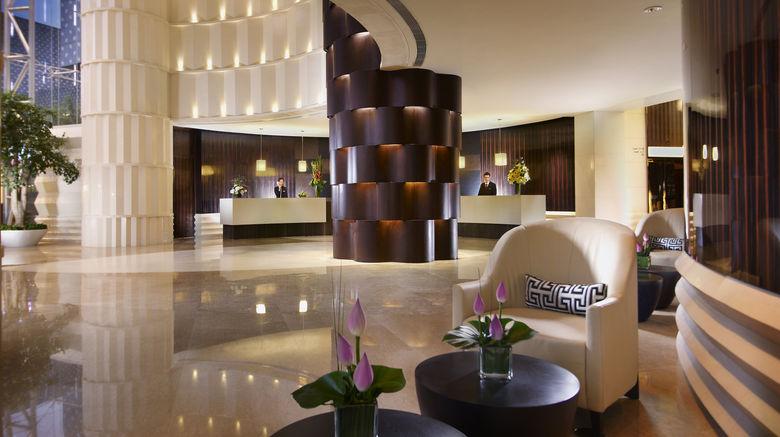 "Ascott Huai Hai Road Shanghai Lobby. Images powered by <a href=""http://www.leonardo.com"" target=""_blank"" rel=""noopener"">Leonardo</a>."