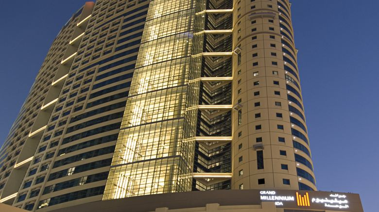 "Grand Millennium Al Wahda Exterior. Images powered by <a href=""http://www.leonardo.com"" target=""_blank"" rel=""noopener"">Leonardo</a>."